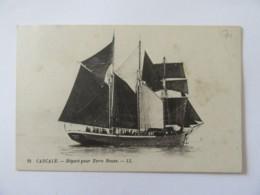 CPA Cancale N°21 - Départ Pour Terre-Neuve (voilier) - Carte Animée, Non-circulée - Velieri