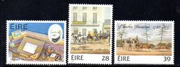 Ireland 1986 Mulready & Bianconi Bicentenaries Set Of 3, MNH, SG 651/3 - 1949-... République D'Irlande