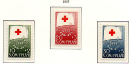 PIA - FINLANDIA  - 1957 : 80° Anniversario Della Croce Rossa Nazionale - (Yv 463-65) - Primo Soccorso