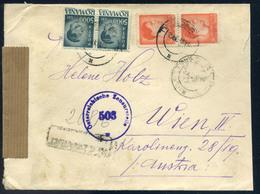 ROMÁNIA 1947. Ajánlott, Inflációs Levél Ausztriába Küldve, Cenzúrázva  /  ROMANIA 1947 Reg. Infla. Letter To Austria, Ce - Roumanie