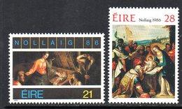 Ireland 1986 Christmas Set Of 2, MNH, SG 654/5 - 1949-... République D'Irlande