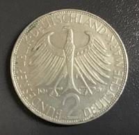 "GERMANIA - DEUTSCHLAND - 1957 - 2 MARCHI  "" J "" Max Planck - [ 7] 1949-… : RFA - Rep. Fed. Tedesca"