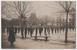 Carte Photo 69 VILLEFRANCHE Sur Saône Parade Revue Jeunesse Salut Uniforme Militaria - Villefranche-sur-Saone
