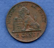 Belgique -  2 Centimes 1861   - Km # 4.2-  état TTB  -  1 Coup Tranche - 1865-1909: Leopold II