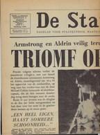 DE STANDAARD * ARMSTRONG EN ALDRIN MAANLANDING APOLLO 11 * 22 JULI 1969 * ZIE SCANS * KRANT IS VOLLEDIG - Informations Générales