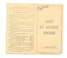 Carte De Sécurité Sociale - 1946 - Cachet ENGLEBERT Et Cie , Rue Des Vennes à LIEGE - Métiers (van) - Vieux Papiers