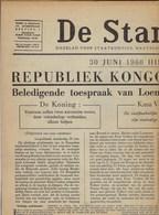 DE STANDAARD * KONGO ONAFHANKELIJK * 30/06/1960 * TOESPRAAK LOEMOEMBA * KRANT VAN 1/7/1960 * KRANT IS VOLLEDIG - Géographie & Histoire