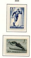 PIA - FINLANDIA  - 1958 : Campionato Mondiale Di Sci Nordico A Lahti - (Yv 469-70) - Sci