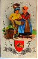 Guyenne & Gascogne Costume Régional Folklore Vigne Raisin Ecusson 1960 - Kostums