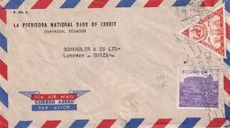 EQUATEUR 1957 PLI AERIEN DE GUAYAQUIL POUR LUZERN - Equateur