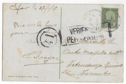 1917 - CARTE De SFAX (TUNISIE) Avec CENSURE ITALIENNE => AUTOMOBILISTE INTENDANCE SPECIALE ARMEE D'ORIENT à TARANTO - Covers & Documents