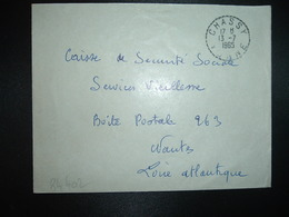 LETTRE OBL. Tiretée 13-7 1965 CHASSY YONNE (89) - Marcophilie (Lettres)