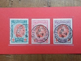 BELGIO - Pro Croce Rossa - Re Alberto I° - Nn. 132/34 Timbrati + Spese Postali - 1918 Croce Rossa