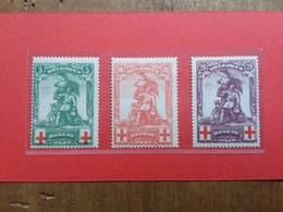 BELGIO - Pro Croce Rossa - Nn. 126/28 Nuovi * + Spese Postali - 1918 Croce Rossa