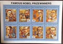 St Vincent 1991 Famous Nobel Prize Winners Sheetlet MNH - St.Vincent & Grenadines