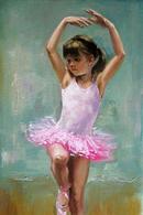 №174.37 Postcard Modern Rare New Little Girl Child In Training Ballroom Dancing - Dances