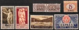 D - [828973]TB//*/Mh-Libye (colonie Italienne)  - Tb Lot */mh, Dont Express Et Aérienne - Libye