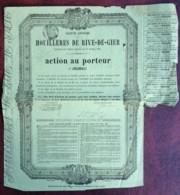 Société Anonyme Des Houillères De Rive-de-Gier . 2 Actions 1877 Et 1904 . Charbon . Mines . - Mines