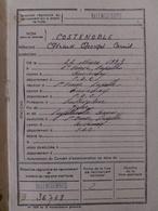 Livret Individuel Et Autres Douments Au Nom De Gérard COSTENOBLE En 1949 Né à Saint Omer Capelle. - Documents
