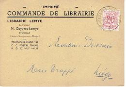 CP Publicitaire STOCKAY (SAINT-GEORGES-SUR-MEUSE) 1954 - LIBRAIRIE LEMYE - Successeur CUYVERS-LEMYE - Saint-Georges-sur-Meuse