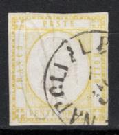 Province Napoletane 1861 Sass.23 O/Used F - Cert.Raybaudi - Naples