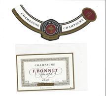 ETIQUETTE CHAMPAGNE F BONNET BRUT  A OGER   ***   RARE A SAISIR ****** - Champagne