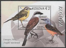 Kosovo 2019 Europa CEPT National Birds Fauna, Block Souvenir Sheet MNH - 2019