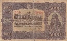 HUNGARY 5000 KORONA 1923 - Hungary