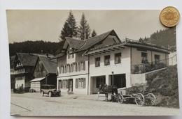 Innerthal SZ, Gasthaus Post, Auto, Fuhrwerk, 1925 - SZ Schwyz