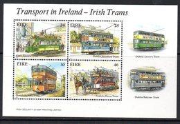Ireland 1987 Trams MS, MNH, SG 662 - 1949-... République D'Irlande