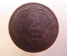 Monnaie. 13. Hungria. 2 Filler 1901. - Hungary