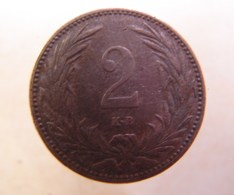 Monnaie. 13. Hungria. 2 Filler 1901. - Hongrie