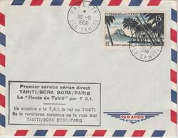Polynésie 1er Service Aérien Tahiti Paris - Polynésie Française