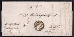 RARE ENVELOPE LETTER GERMANY VORPHILA 1854. CRAILSHEIM BLAUFELDEN - [1] Prefilatelia