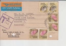 Kenya Postcard, Airmail Label, Sea Shell   (A-3003) - Kenya (1963-...)