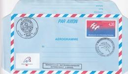 FRANCE - AEROGRAMME 4.20 BICENTENAIRE REVOLUTION - CACHET 1.01.1989 CLERMONT-FERRAND - L'ENVOL VOYAGE SPECIAL BALLON / 1 - Aerogrammen