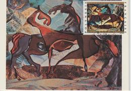 Polynésie Carte Maximum 1972 Peinture PA 65 à 69 - Cartes-maximum