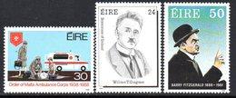 Ireland 1988 Anniversaries & Events Set Of 3, MNH, SG 691/3 - 1949-... République D'Irlande