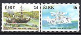 Ireland 1988 Transatlantic Transport Anniversaries Set Of 2, MNH, SG 696/7 - 1949-... République D'Irlande