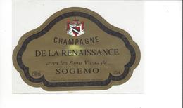 ETIQUETTE   CHAMPAGNE SOGEMO   ***   RARE A SAISIR ****** - Champagne