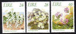 Ireland 1988 Endangered Flora Set Of 3, MNH, SG 698/700 - 1949-... République D'Irlande