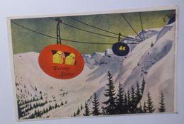 """Ostern, Küken, Berge, Seilbahn""  1938 ♥  - Ostern"