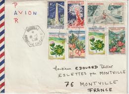 Nouvelle Calédonie 1966 Lettre Pour La France Oblit. Nouville - Briefe U. Dokumente