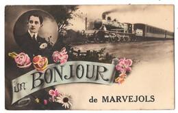 MARVEJOLS - Un Bonjour De Marvejols (train) - Marvejols
