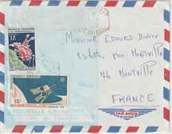 Nouvelle Calédonie 1966 Lettre Pour La France Oblit. Nouville - New Caledonia
