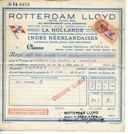 ROTTERDAM LLOYD 1936 BILLET POUR UN TRAJET DE BORDEAUX LE VERDON A MARSEILLE - Boat