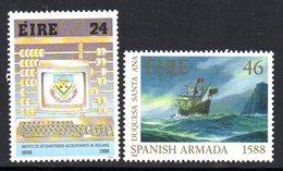 Ireland 1988 Anniversaries Set Of 2, MNH, SG 705/6 - 1949-... République D'Irlande