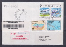 Solomon Islands 1984 Registered Cover To Australia - Solomon Islands (1978-...)