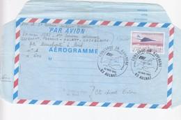 FRANCE - AEROGRAMME 2.70 CONCORDE SURVOLANT PARIS- CACHET 1er VOL CONCORDE EN AUVERGNE 23.5.1987 AULNAT 63  / 1 - Ganzsachen