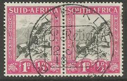 South Africa - 1933 Voortrekker Memorial Fund 1d+1/2d Bilingual Pair Very Fine Used    SG 51  Sc B2 - South Africa (...-1961)
